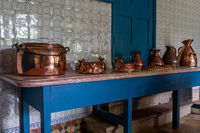 Palace Monserrat in Sintra, Portugal. details of the kitchen with oven