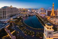 aerial Las Vegas at night