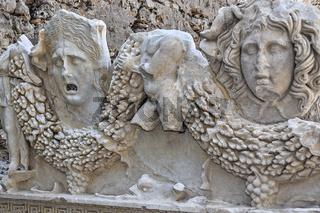 Sarcophagus Figures, Side Museum, Side, Turkey