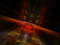 Abstract portal or hall - digitally generated image