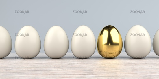Golden Egg With Natural Eggs