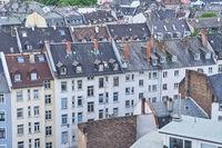 Dächer von Wohngebäuden in Frankfurt am Main