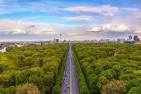 Berlin Germany, high angle city skyline at Tier Garden
