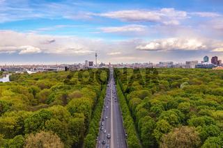 Berlin Germany, high angle city skyline at Tier Garden