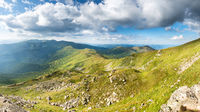 Mountains panorama with peaks and rocks