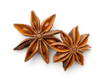 Top view of dry star anise fruits