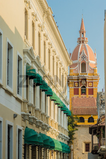 A typical view in cartagena in Colombia.