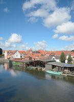 at Elde River in Plau am See,Mecklenburg Lake District,Germany