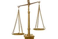 Golden weight balance scale