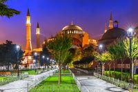 Hagia Sophia in Sultan Ahmet Square, Istanbul, Turkey
