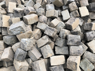 pile of large cobble stones, cobblestone background