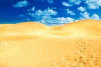 Sandy landscape of reserve Maspalomas Dunes