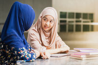 Muslim Student reading book