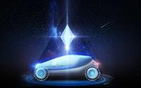 futuristic concept car over space background
