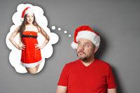 santa claus dreaming of sexy miss santa