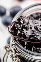Sweet blueberry jam.