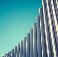 Abstract White Concrete Architecture