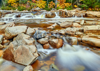 Swift River cascades at autumn, New Hampshire, USA