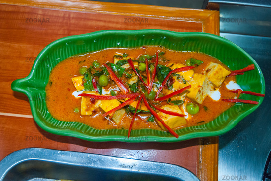 Served Panang curry