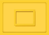 Yellow Frames on Yellow Background with Shadows