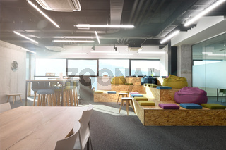 relaxation area in Modern Office