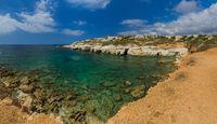Coastline on Cyprus island