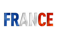 french flag text font