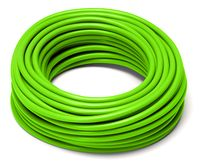 rolled green cable