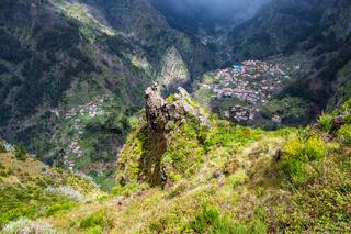 Blick auf das Nonnental auf der Insel Madeira, Portugal