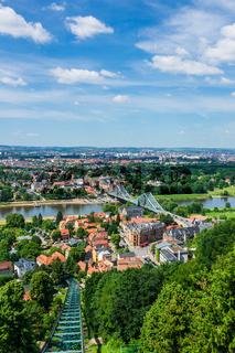 Blick über die Elbe auf Dresden