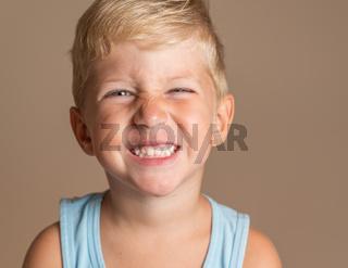 baby boy green eyes smiling