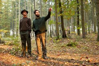 Zwei Förster bei einer Inspektion im Wald