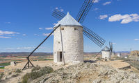 windmills of Consuegra in Toledo, Spain. They served to grind grain crop fields