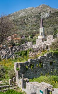 The ruins of the old citadel in Stari Bar