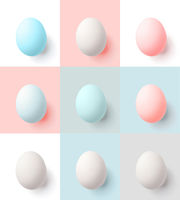 Background with pink, blue and gray in pastel colors. Easter concept