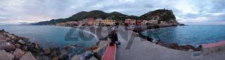 Panorama von Varigotti - Ligurien