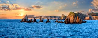 Evening Atlantic landscape, Asturias, Spain