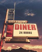 Retro Vintage Motel Diner Sign
