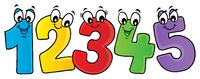 Cartoon numbers theme image 2