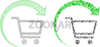 Polygonal Wire Frame Mesh Repeat Purchase Order and Mosaic Icon