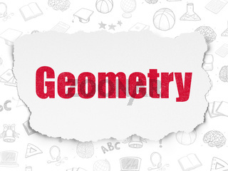 Learning concept: Geometry on Torn Paper background
