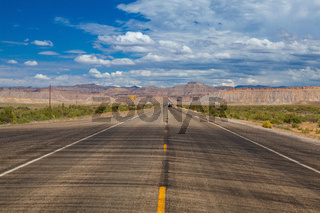 On the desert highway, Utah, USA