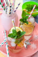 Homemade lemon iced tea