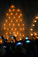locals use smartphones to capture moments at the annual Fire Ballon Festival, Taunggyi, Myanmar.