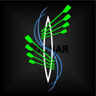 Vector image Logo rowing club color sport