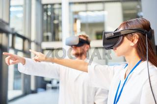 Ärzte lernen Medizin in Simulation mit der VR Brille