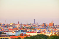 Vienna aerial view in the evening