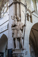 Statue Saint Christopher in Dom St. Paul in Muenster, Germany