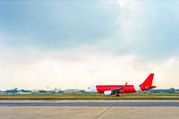 Airplane, runway, airport, departure, skyline