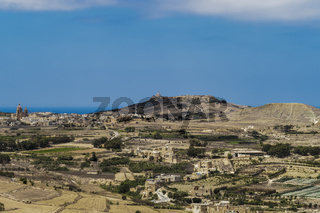 Gozo , Malta panoramic island day view.